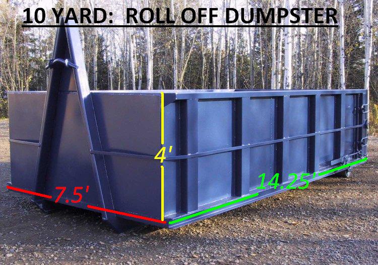 10 Yard: Roll Offs Dumpster