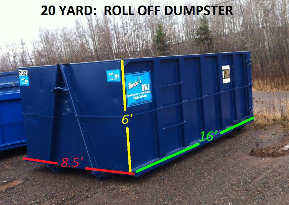 20 Yard: Roll Offs Dumpster